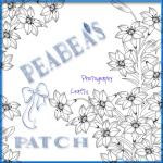 peabea patch w ribbon