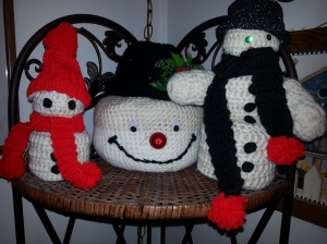 Large one is candy dish snowman