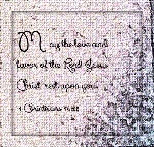 1 Corinthians 16 23