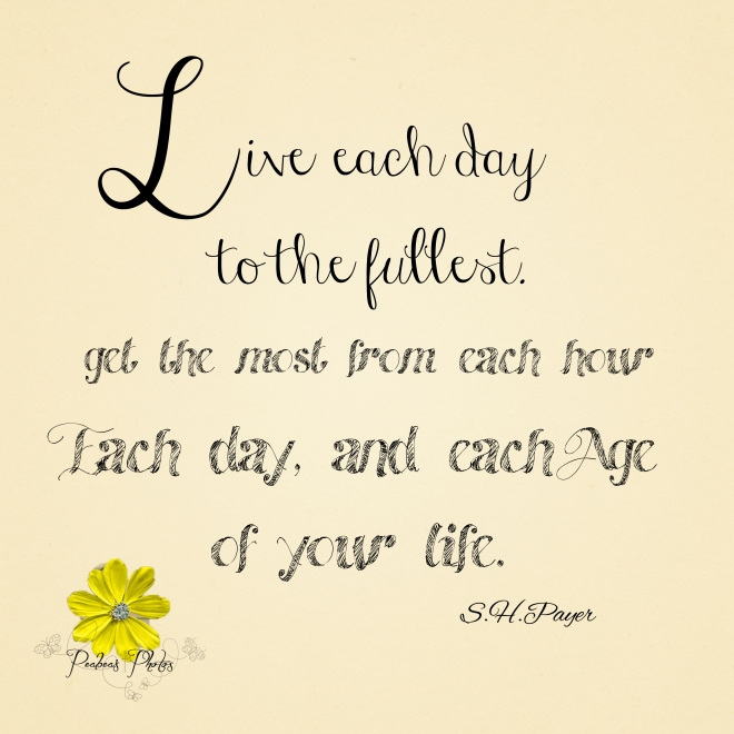 Live Each Day graphic
