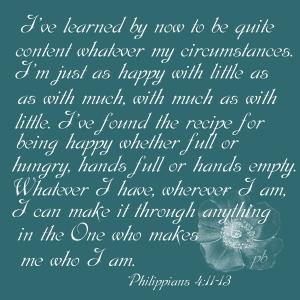Philippians 4 11-13