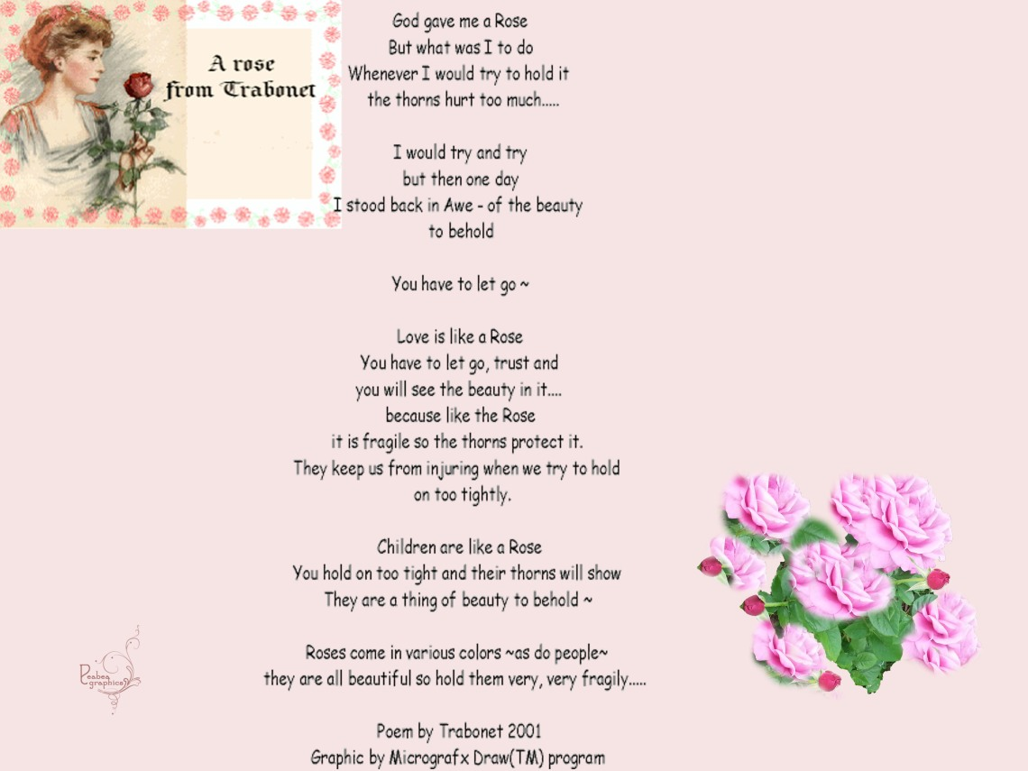 Rose Poem by Trabonet aka Peabea
