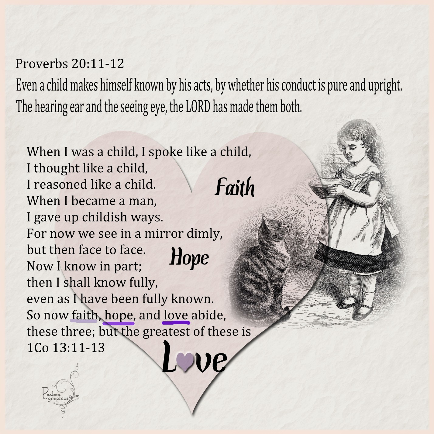 Proverbs 20 11-12