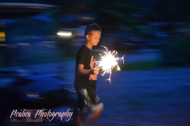Sparkler Fun at Camper