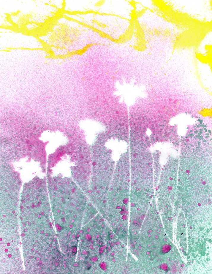 Dried Flowers stencil